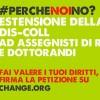 """#perchènoino: una petizione per estendere la """"DIS-COLL"""" ai dottorandi e assegnisti"""