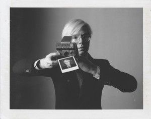 "Oliviero Toscani, ""Andy Warhol with camera"" (1974)"