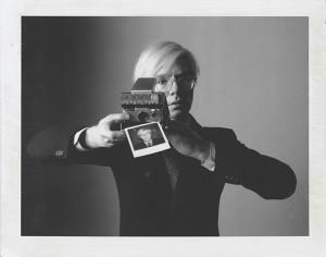 "Oliviero Toscani, ""Andy Warhol with camera"" (1974)"
